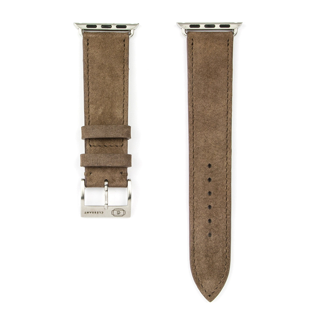 Clessant Taupe Nubuck Apple Watch Strap - Cult of Mac Watch Store
