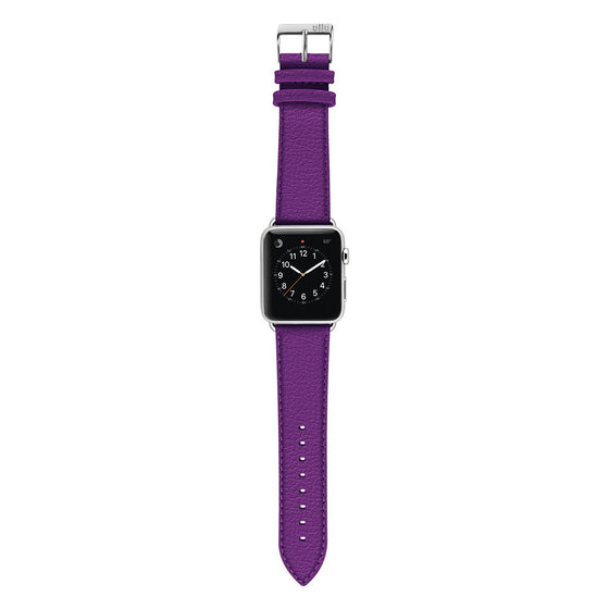 Ullu Premium Leather Apple Watch Band in Purple Haze