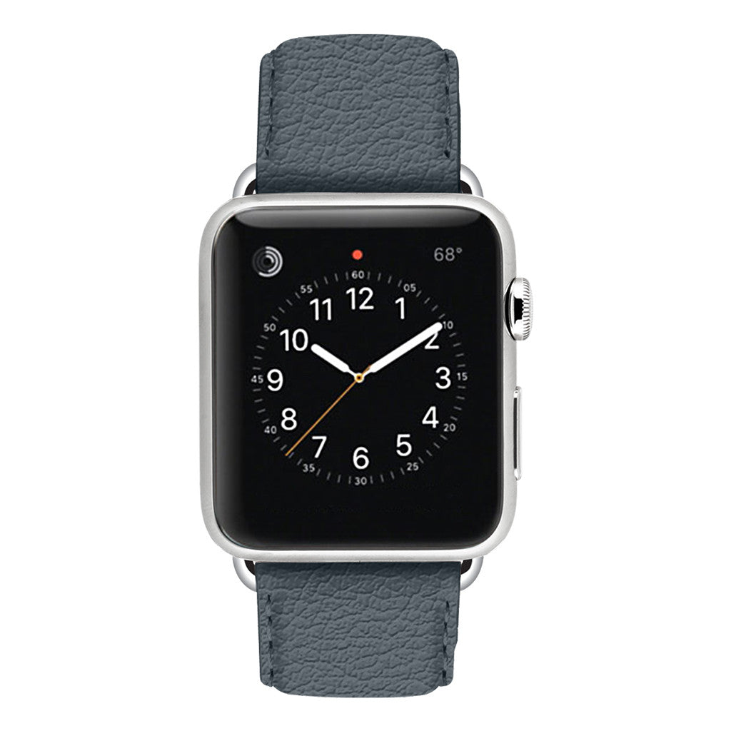 Ullu Premium Leather Apple Watch Band in Smoke Up
