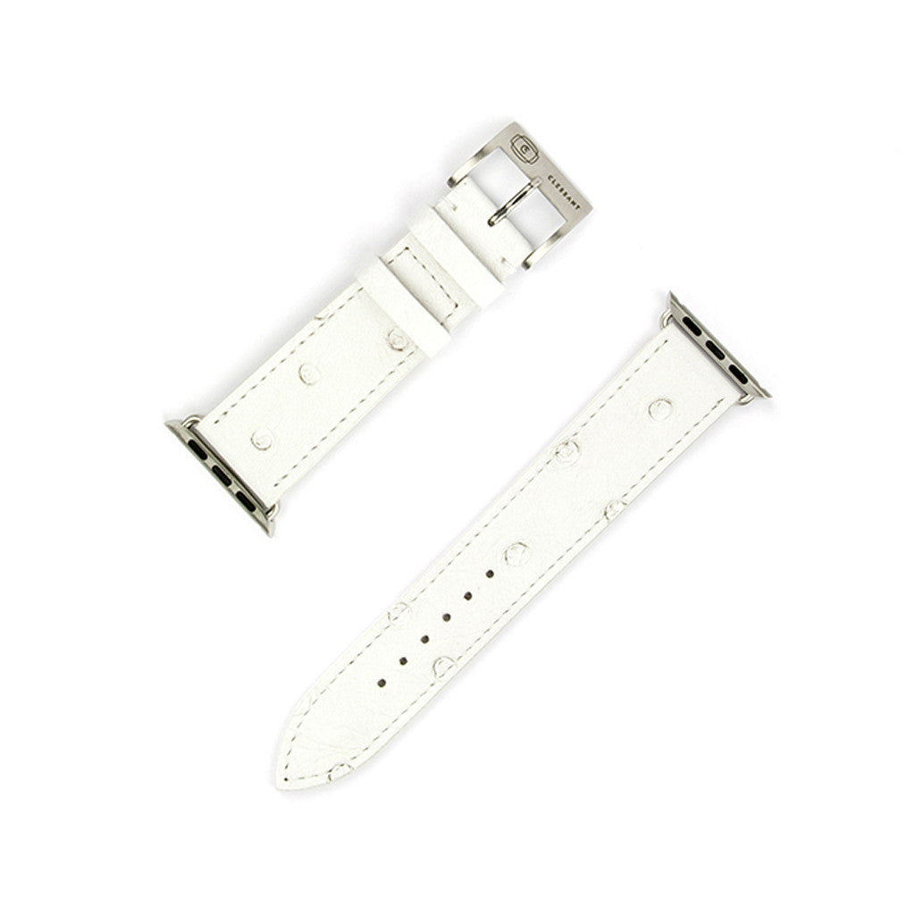 Clessant White Ostrich Apple Watch Band - Cult of Mac Watch Store