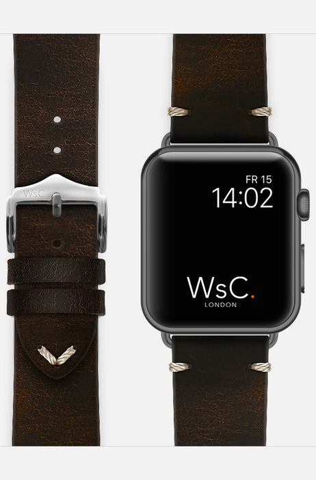WsC Vengeance Brown Leather Apple Watch Band