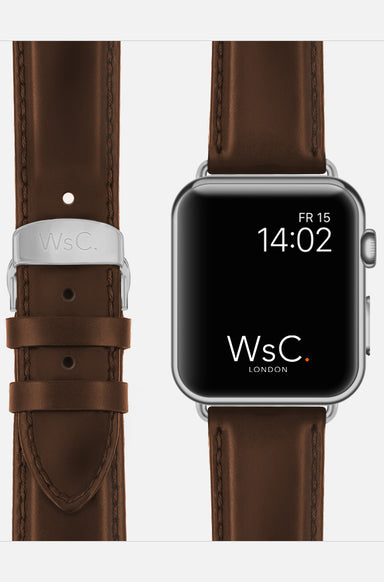 WsC Defiant Light Brown Leather Apple Watch Band