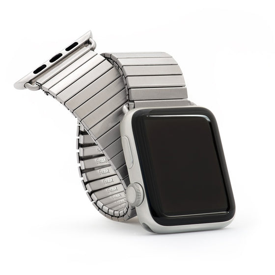 Speidel Twist-O-Flex Brushed Stainless Steel Apple Watch Band - Cult of Mac Watch Store