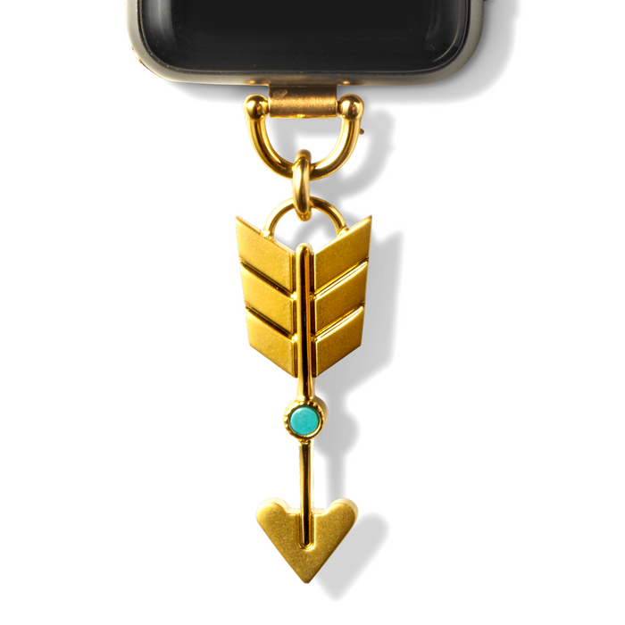 Bucardo Charm Apple Watch Necklace in Arrow Gold