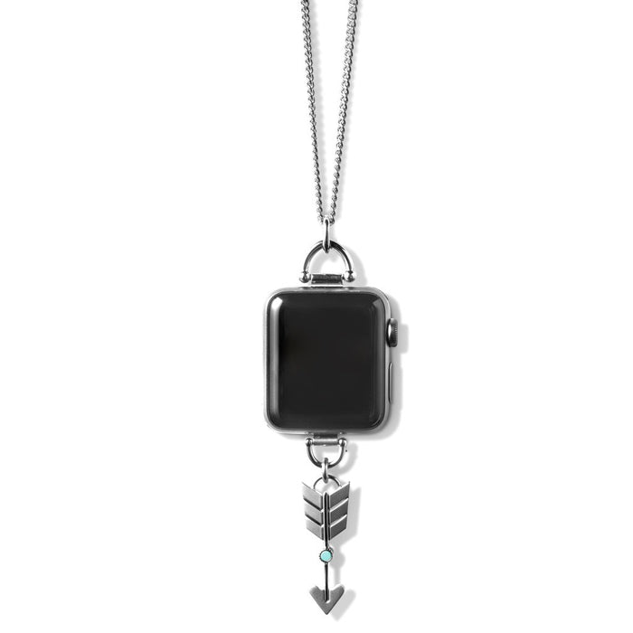 Bucardo Charm Apple Watch Necklace in Arrow Silver