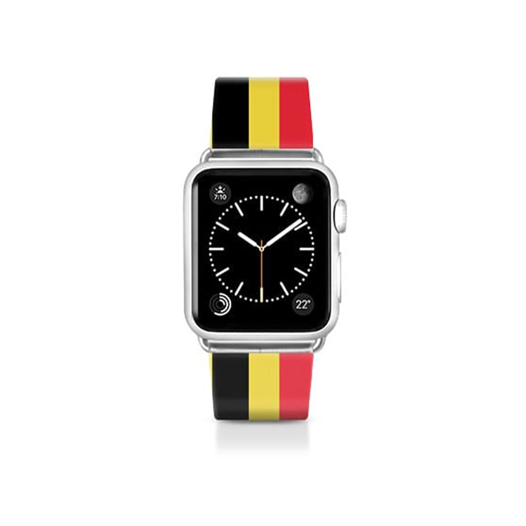 World Cup: Casetify Saffiano Leather Apple Watch Band Belgium Stripes