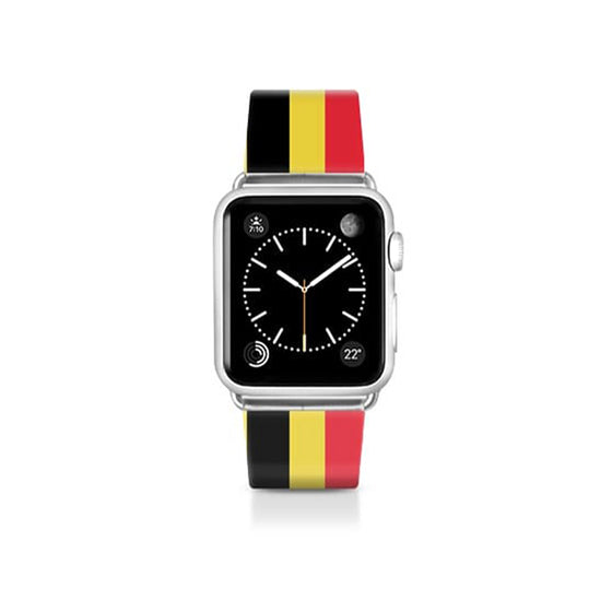 World Cup: Casetify Saffiano Leather Apple Watch Band Belgium - Cult of Mac Watch Store