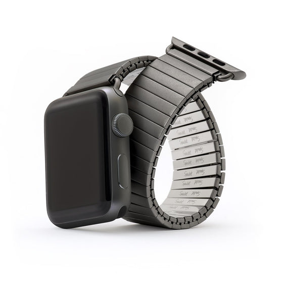 Speidel Twist-O-Flex Black Stainless Steel Apple Watch Band - Cult of Mac Watch Store