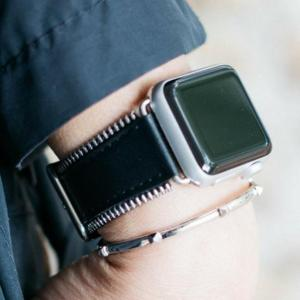 Bezels & Bytes Zipper-Edged Leather Apple Watch Band