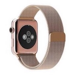 Bluestein Milanese Apple Watch Band Rose Gold