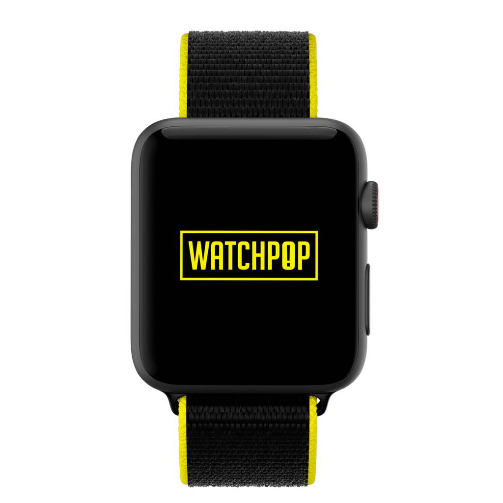 Watchpop Loop for Apple Watch in Bumblebee Black/Yellow - Cult of Mac Watch Store