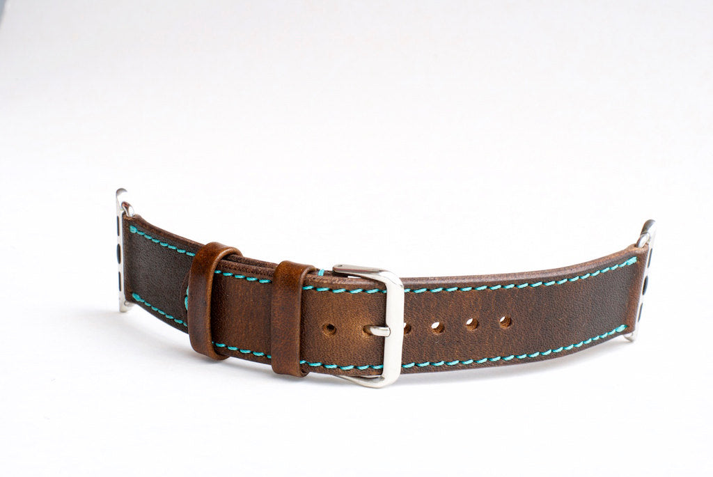 oplr. leather goods co. Chestnut Apple Watch Band