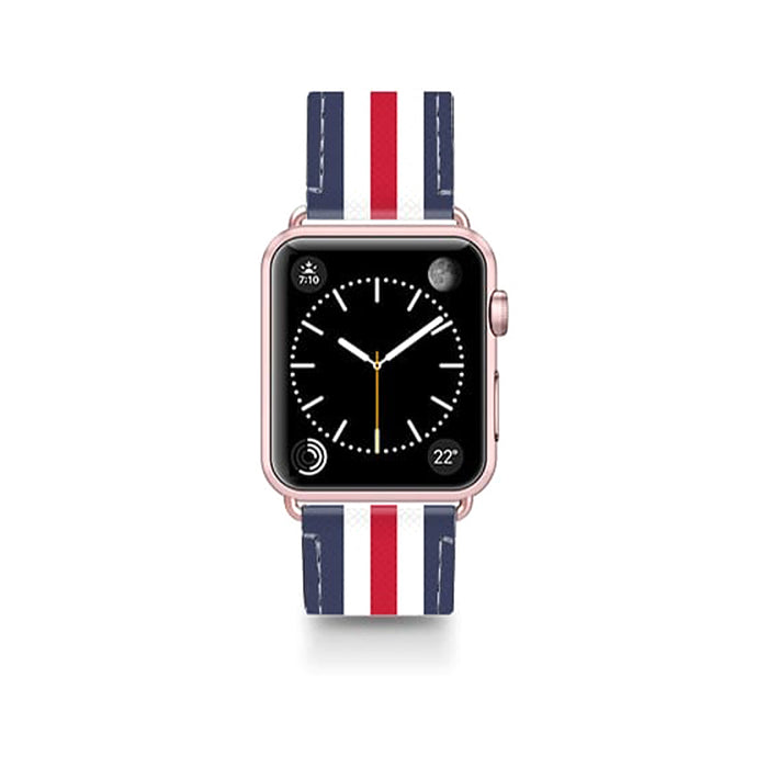 Casetify Saffiano Leather Apple Watch Band Classic England - Cult of Mac Watch Store