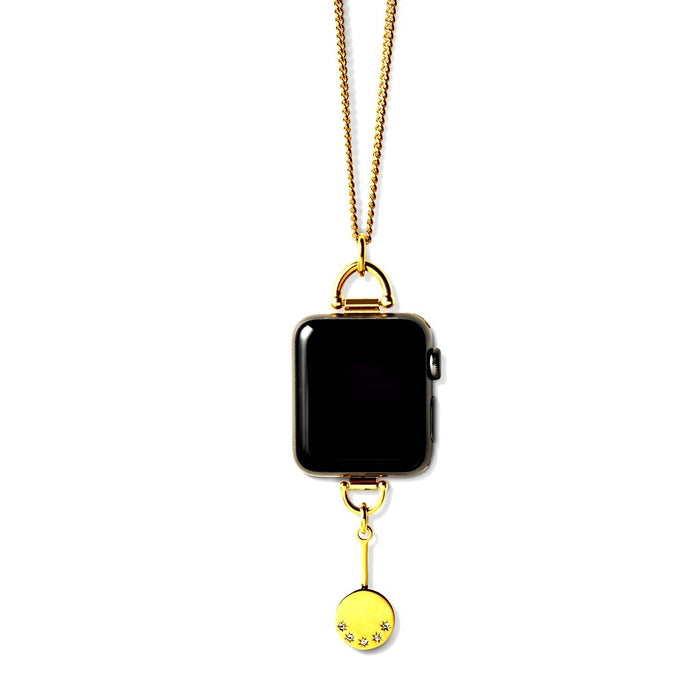 Bucardo Charm Apple Watch Necklace in Pendulum Gold