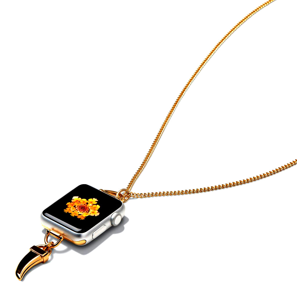 Bucardo Charm Apple Watch Necklace in Horn Gold Series 1, 2, 3