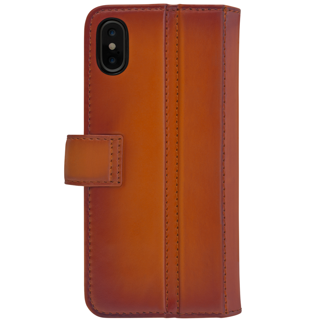 Ullu Piggyback Case in Hand-Colored Leather iPhone X/XS, XS Max