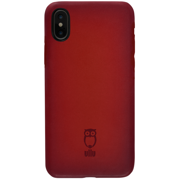 Ullu Snap On Case in Hand-Colored Leather iPhone X, XS, XS Max