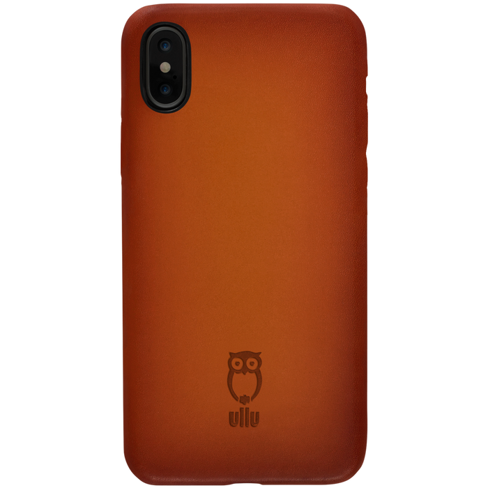 Ullu Snap On Case in Hand-Colored Leather iPhone X/XS