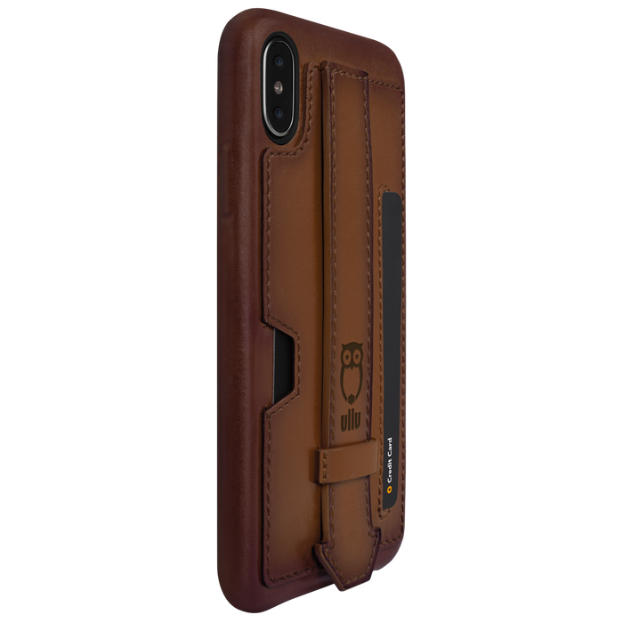 Ullu Strappy Case in Hand-Colored Leather iPhone X/XS, XS Max