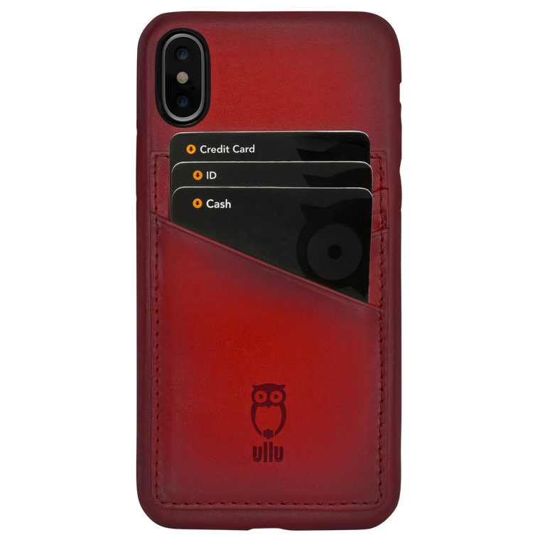 Ullu Wally Case in Hand-Colored Leather iPhone X/XS, XS Max