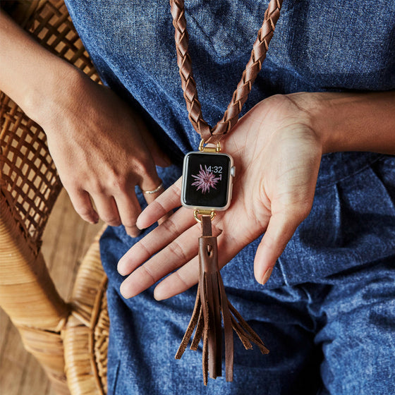 Bucardo Coralline Apple Watch Necklace and Tassel