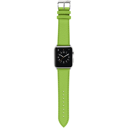 Ullu Leather Apple Watch Band in Lime