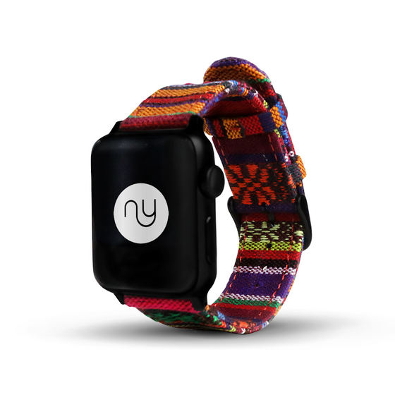 XL Nyloon Moai Nylon Apple Watch Band - Cult of Mac Watch Store
