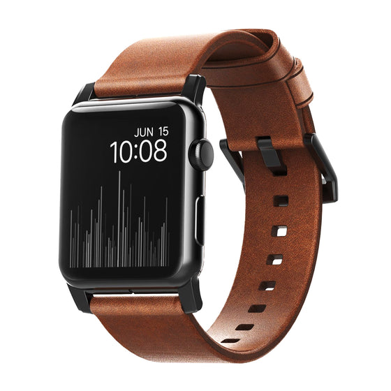 Nomad Modern Leather Apple Watch Band in Rustic Brown - Cult of Mac Watch Store