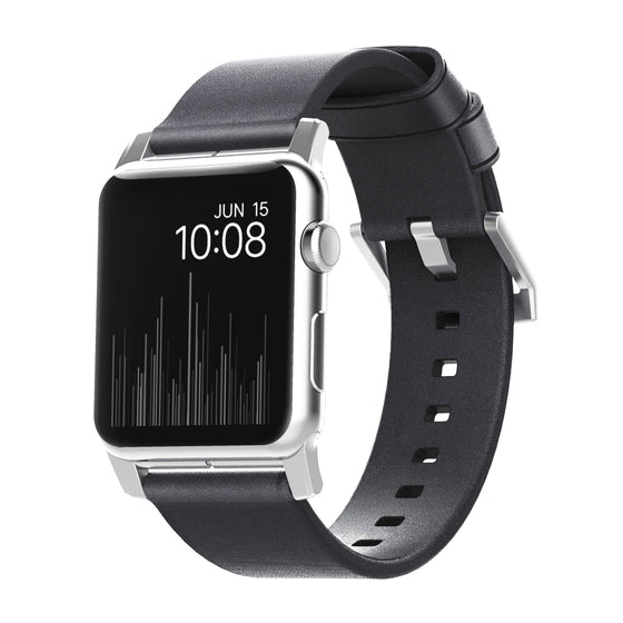 Nomad Modern Leather Apple Watch Band in Slate Gray - Cult of Mac Watch Store