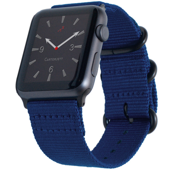 Carterjett Nylon NATO Apple Watch Band in Blue