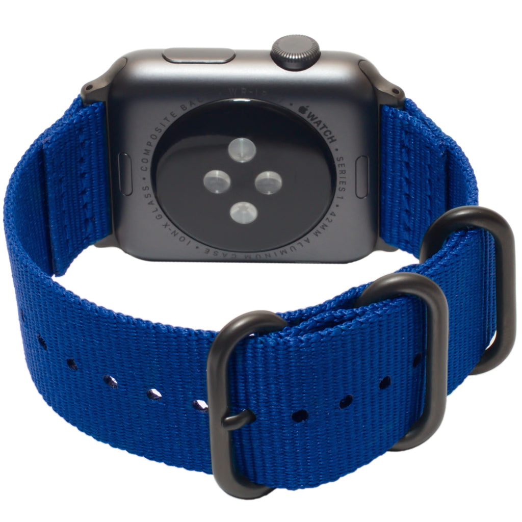 Carterjett Nylon NATO Apple Watch Band in Blue - Cult of Mac Watch Store