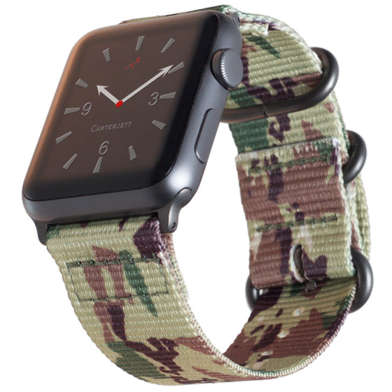 Carterjett Nylon NATO Apple Watch Band in Camo