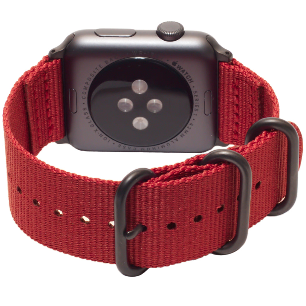 Carterjett Nylon NATO Apple Watch Band in Red - Cult of Mac Watch Store