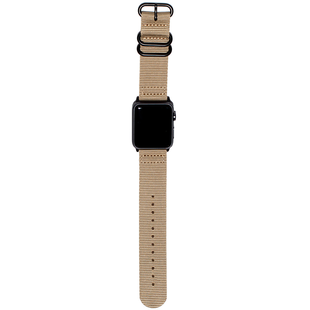 Carterjett Nylon NATO Apple Watch Band in Tan - Cult of Mac Watch Store
