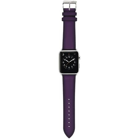Ullu Hand-Colored Leather Apple Watch Band in Purple Haze - Cult of Mac Watch Store