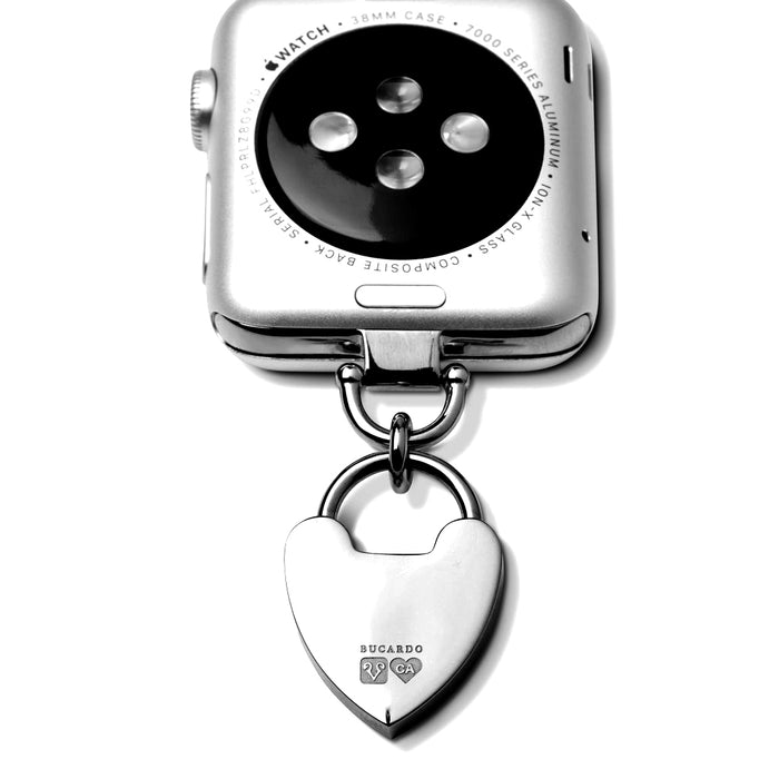 Bucardo Charm Apple Watch Necklace in Heartlock Silver