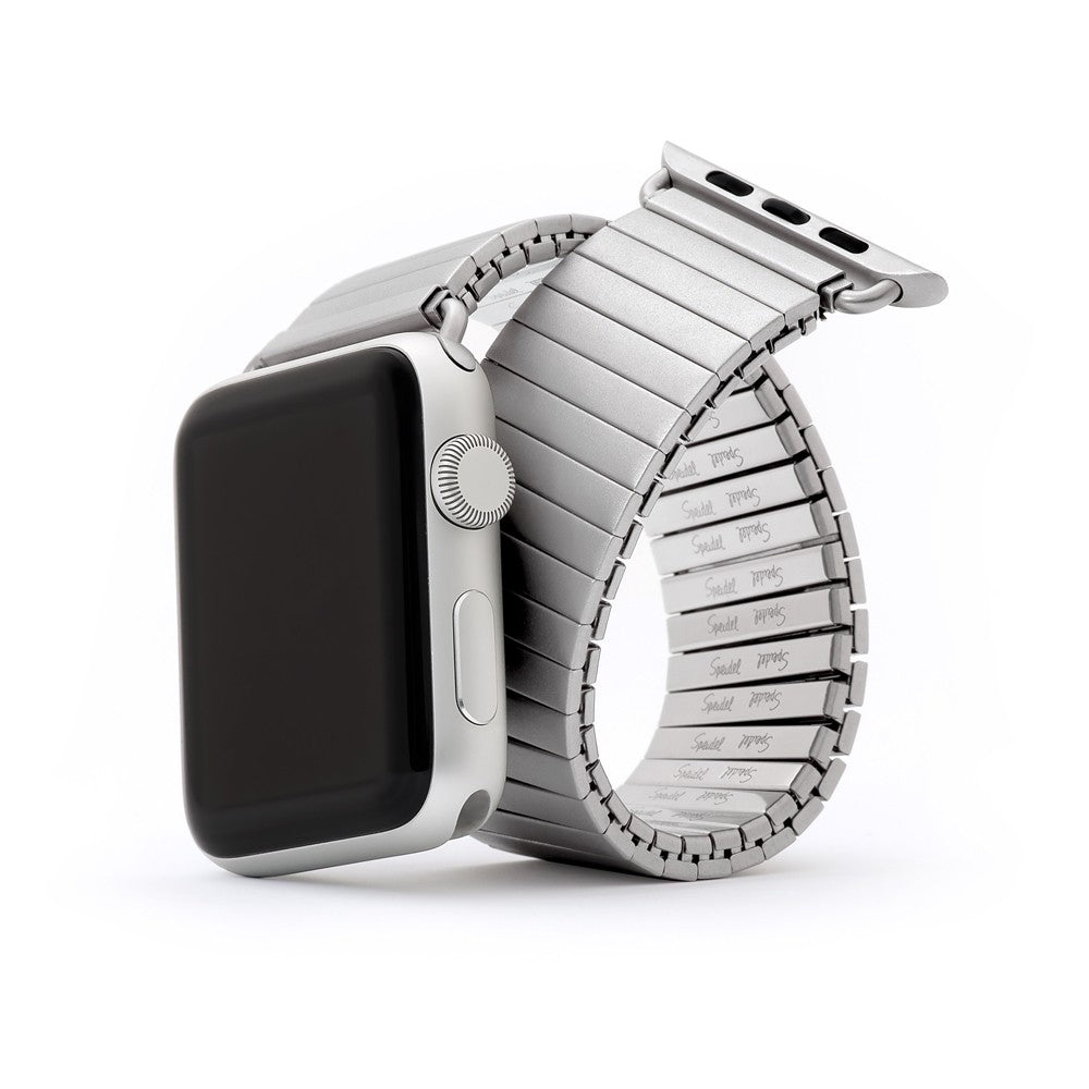 Speidel Twist-O-Flex Silver Stainless Steel Apple Watch Band - Cult of Mac Watch Store