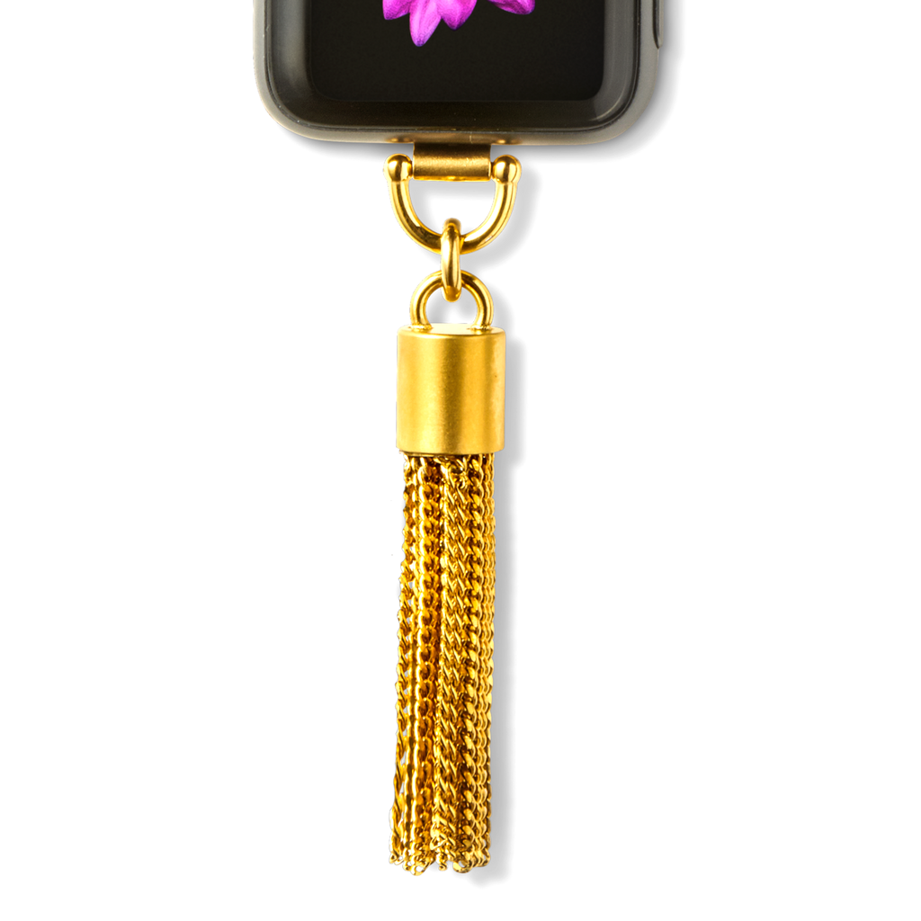 Bucardo Tassel Charm Apple Watch Necklace in Gold Series 1, 2, 3