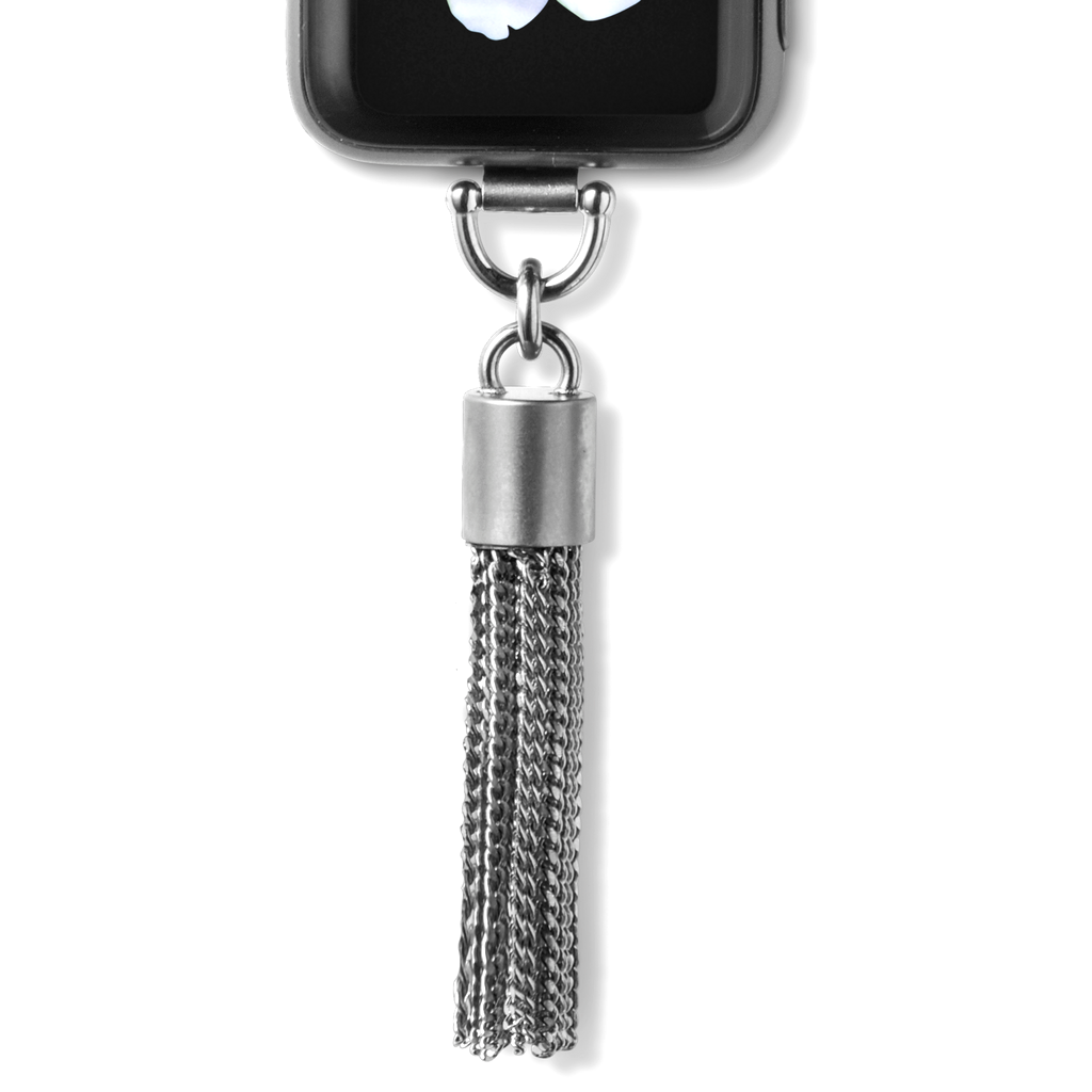 Bucardo Charm Apple Watch Necklace in Tassel Silver Series 1, 2, 3