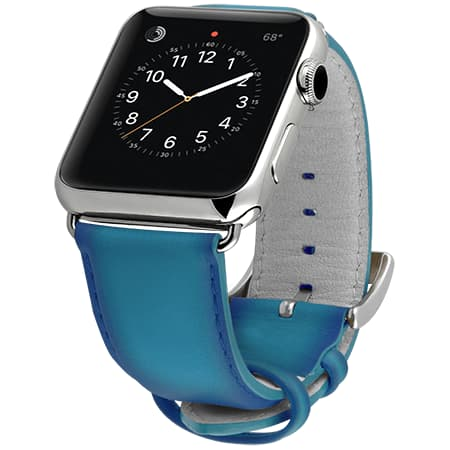 Ullu Hand-Colored Leather Apple Watch Band in Turkish Delight - Cult of Mac Watch Store
