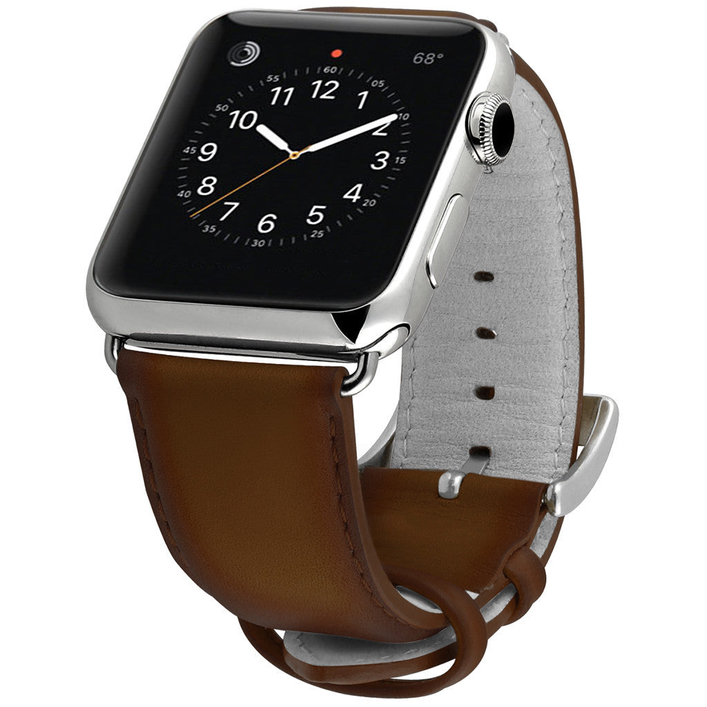 Ullu Hand-Colored Leather Band in Milk Chocolate - Cult of Mac Watch Store