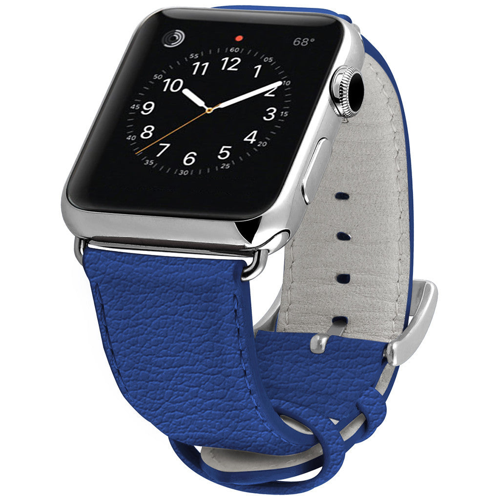 Ullu Premium Leather Band in Blue Steel - Cult of Mac Watch Store