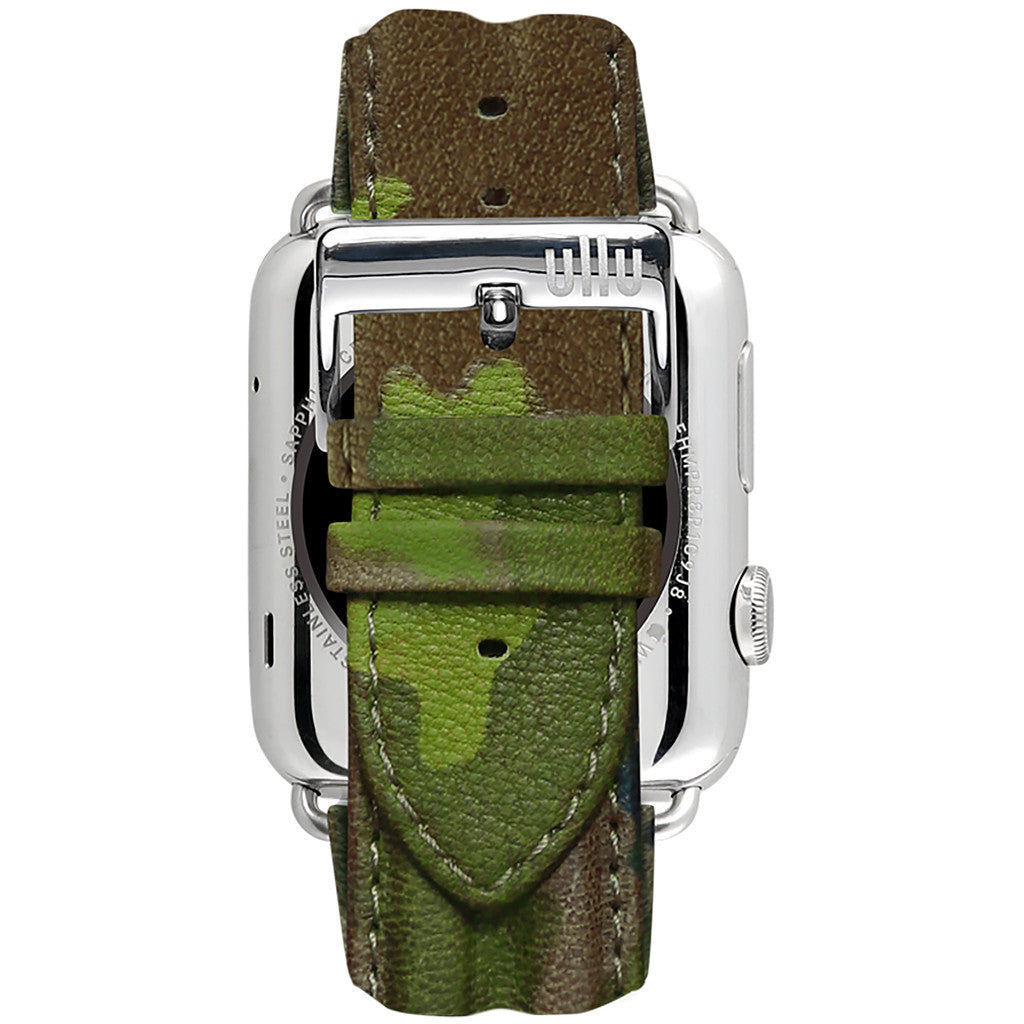 Ullu Premium Leather Band in Army Woodland - Cult of Mac Watch Store