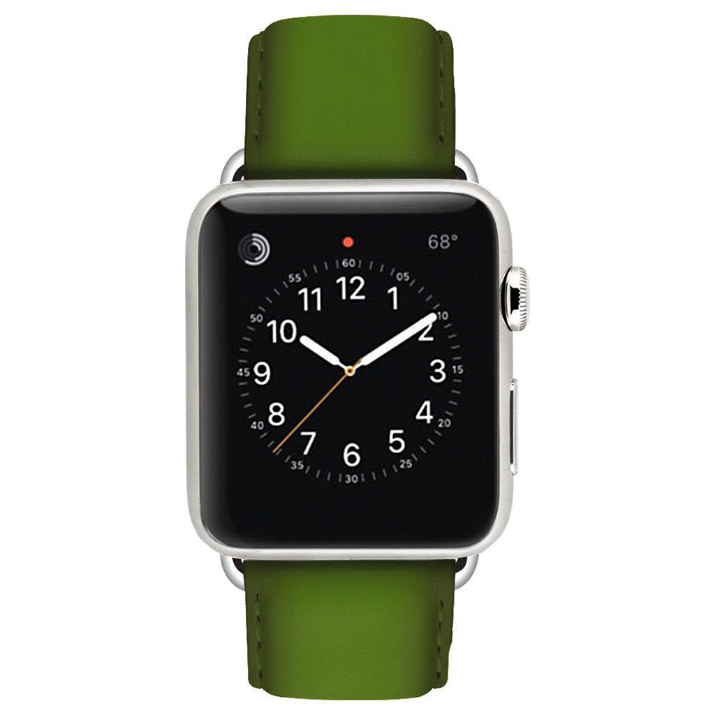 Ullu Hand-Colored Leather Band in Lime - Cult of Mac Watch Store