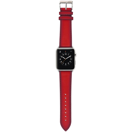 Ullu Hand-Colored Leather Band in Bloody Hell - Cult of Mac Watch Store