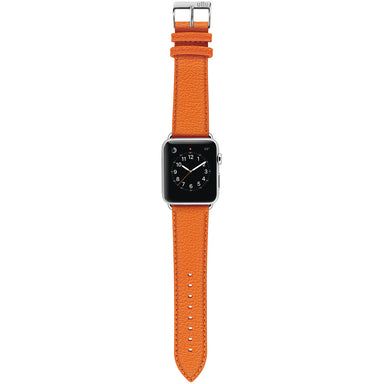 Ullu Premium Leather Band in Tangerine - Cult of Mac Watch Store