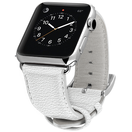 Ullu Premium Leather Apple Watch Band in Walter White - Cult of Mac Watch Store