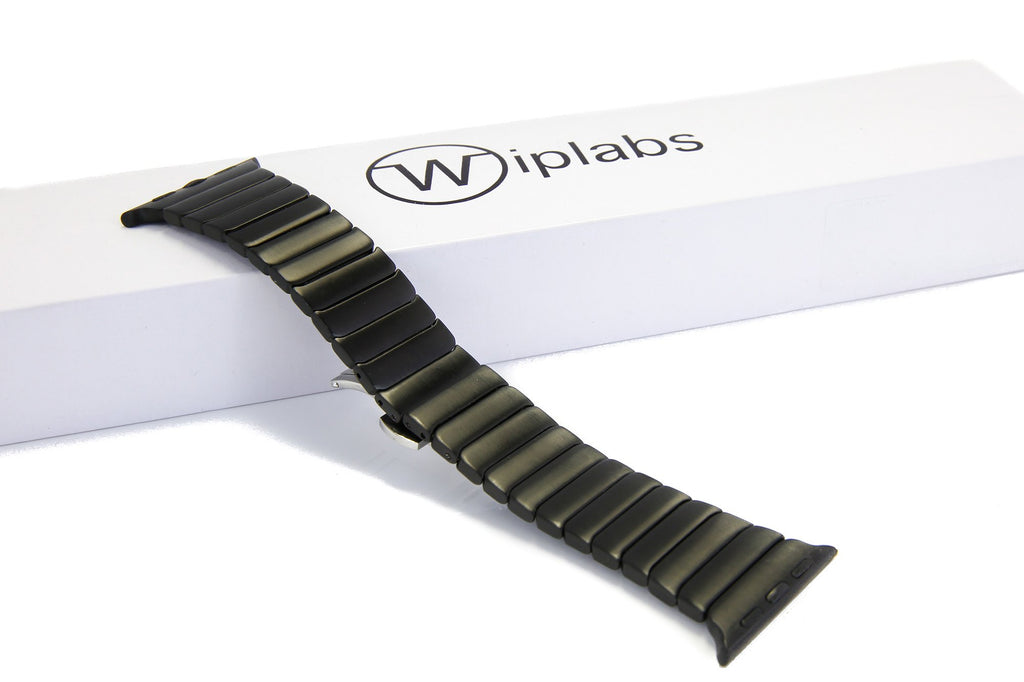 Wiplabs Link Apple Watch Bracelet in Matte Black - Cult of Mac Watch Store