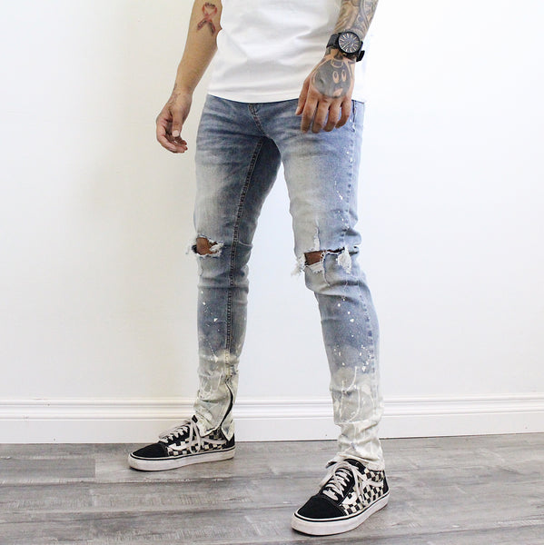 Travis Painted Distressed Jeans