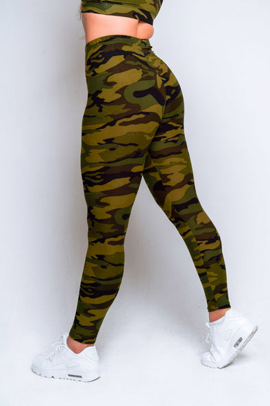 Camo High Waisted Legging – Green